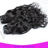 Unprocessed естественные черные естественные волосы камбоджийца девственницы волны