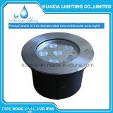 lâmpada leve Recessed subaquática da paisagem do diodo emissor de luz da cor de 18watt 12V RGB