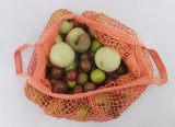 Commerce de gros sacs de maille de coton pliable dans l'emballage avec poche intérieure