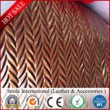 PVC革総合的な革Stretchong裏付けによって使用されるハンドバッグの卸売