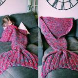 Coperta della coda della sirena del sacco a pelo dei bambini del Crochet