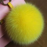 Оптовая продажа Keychain шарика шерсти Fox меховая