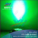 54*3W Waterproof a luz da PARIDADE do diodo emissor de luz do efeito de estágio ao ar livre DMX da mostra do DJ