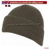 Orifice du bouchon d'acrylique Watch Mens Hiver marque Hat Beanie coiffure (C2055)