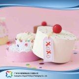 Rectángulo de empaquetado de papel de la cartulina linda para la torta del alimento (xc-fbk-032b)