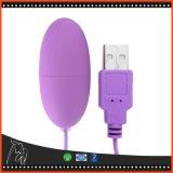 Vibrador elétrico de vibração de choque do ovo para brinquedos adultos do sexo do USB das mulheres