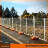 Clôture en plastique temporaire/panneaux de clôture de la température de l'Australie galvanisé