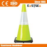 Groene Kleur Kegel van de Weg van het Verkeer van pvc van 28 Duim de Weerspiegelende