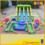 Dinosaure de l'eau gonflables géants Diapositive avec grande piscine gonflable (AQ10104)