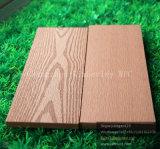Étage Grooved supérieur de Decking de WPC avec l'avantage d'Anti-UV, de durable, aucun plancher de effacement et de fissure de WPC