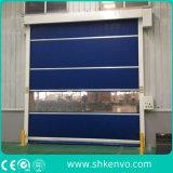 A tela automática industrial do PVC da alta velocidade rola acima portas da garagem da lona