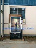 Máquina expendedora automática con sistema de refrigeración para bebidas y bocadillos