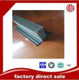 Perfil de alumínio da canaleta do preto da extrusão para o indicador e a porta