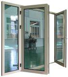 고품질 태풍 충격 열 틈 알루미늄 여닫이 창 유리제 문 (ACD-024)