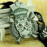 エナメルが付いている熱い販売亜鉛合金のカスタム頭骨デザイン連続したメダル