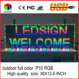 Segno USB LED programmabile rotolamento Informazioni LED Schermo 38X12.6 pollici P10 RGB Outdoor Full Color Display a LED