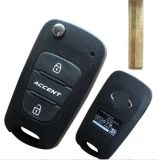 Replacement brandnew Flip Folding Key Shell per Hyundai Accent Remote Key Caso FOB 3 Button
