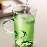 Taza de té de cristal New Super agradable con la mano (CHM8603)