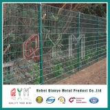 二重ループ鉄条網の/Doubleの金網の塀の倍の鉄条網