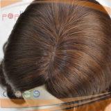 De trabajo superior de la seda técnica judía peluca de cabello virgen (PPG-L-0054)