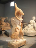 Dierlijk Standbeeld/de Dierlijke Gravure van het Beeldhouwwerk/van de Steen (BJ-feixiang-0039)