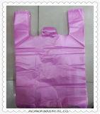 L'impression personnalisée le PEBD PEHD Merci T Shirt sacs de magasinage en plastique