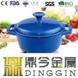 FDAが付いているカラー方法エナメルの鋳鉄のDuchのオーブンの鍋