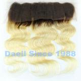 Encierro frontal del cordón de Ombre del pelo chino de Remy