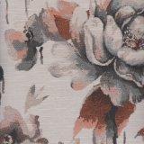 Tela tejida proyecto del diseño de la flor del poliester