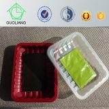 Bandeja del alimento disponible plástico para el envasado de alimentos congelados y mariscos