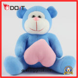 Pink Heart Blue Stuffed Monkey Animal Toy pour Valentines Gift