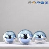 15g 30g 50g Schoonheidsmiddel Van uitstekende kwaliteit van de Kruiken van de Luxe van Elegent het Ronde Zilveren Plastic Acryl