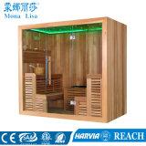 Canadian Red Cedar Wood Home Style Mini salle de sauna (M-6043)