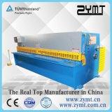 Platte 6X3200, die hydraulische CNC-Guillotine-scherende Maschine schneidet