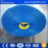 Boyau bleu de PVC Layflat de couleur pour le débit de l'eau