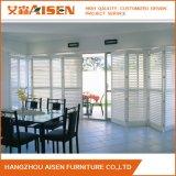 Obturador plegable blanco clásico 2017 de la plantación del estilo de Hangzhou