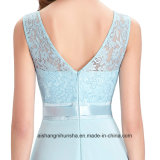 Vestido Chiffon longo do baile de finalistas do laço dos vestidos de noite do desenhador dos vestidos de noite