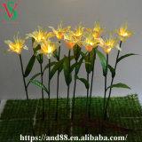 인공적인 백합 꽃이 결혼식에 의하여 Deocorative LED 꽃이 핀다