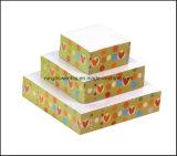 Cubo de nota de papel em forma de pirâmide em forma de presente