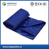 Il PVC blu di Portare-Resistenza ha laminato la tela incatramata tessuta per il coperchio del raggruppamento
