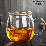 Copa 300ml de oficinas de cristal de borosilicato Claro cristal de la taza, taza de té