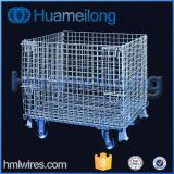 China, das Maschendraht-Ladeplatten-Rahmen mit Fußrollen stapelt