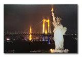 Statue de la liberté Peinture à l'huile de paysage LED encadrée Art de mur de toile
