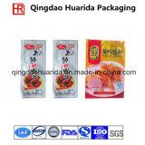 Sacchetto di plastica di imballaggio per alimenti del PE libero poco costoso con la chiusura lampo