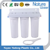 3 estágio Water Filter para 3 White Housing