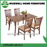 現代デザイン食堂の家具の木製のダイニングテーブルはセットした(W-DF-9037)