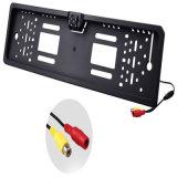 Marco de la placa de matrícula de coches europeos Auto Reverse cámara de copia de seguridad de visión trasera con 4 LED