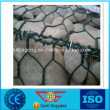 Chemise rectangulaire de PVC de cadre de treillis métallique de Gabion