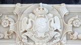 Relevo de mármore branco do cavalo (MRL-003)