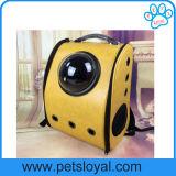 Novo espaço de design em forma de cápsula respiráveis Pet Cat mochila do Transportador